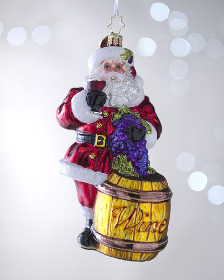 """""""Sommelier Santa"""" Ornament"""