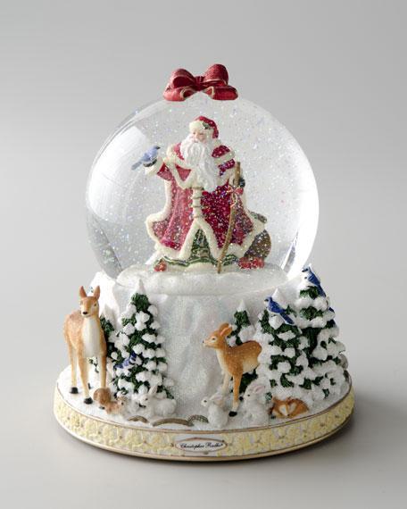 """Winter Forest Santa"" Snow Globe"