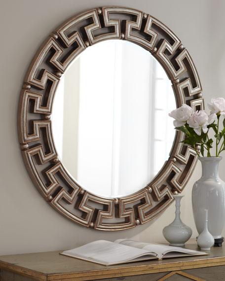 "Golden ""Greek Key"" Mirror"