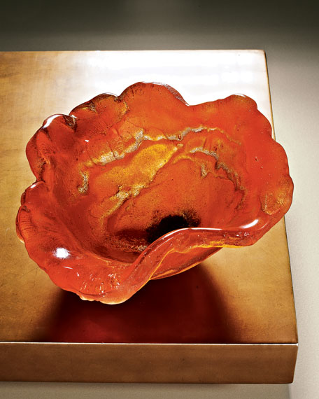 Orange Poppy Bowl
