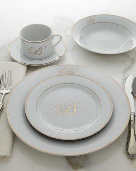 20-Piece Monogrammed Dinnerware Service