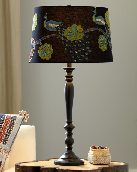 Peacock Shade Lamp