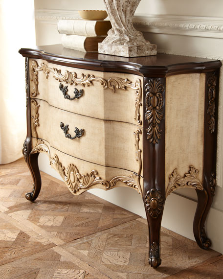 """Maren Linen"" Two-Drawer Chest"