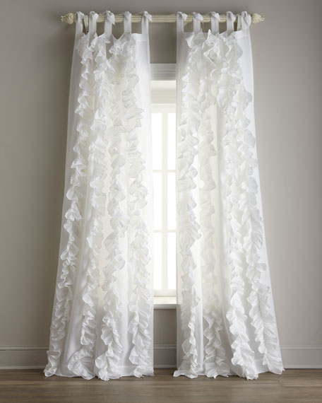 Each 42W X 96L Julianna Ruffle Curtain