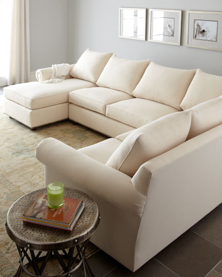 """Ellsworth"" Neutral Three-Piece Sectional"
