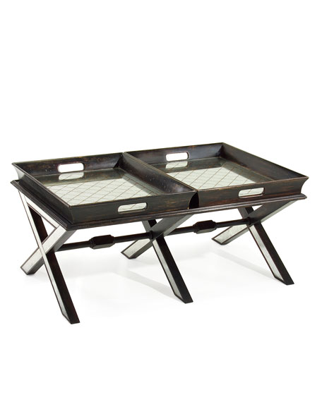 Coffee Table with Butler Trays