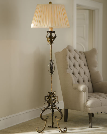 """Golden Acanthus"" Floor Lamp"