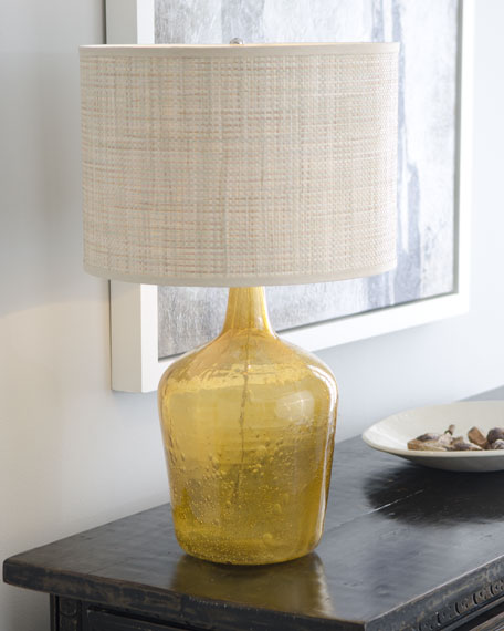 """Amber Plum Jar"" Lamp"