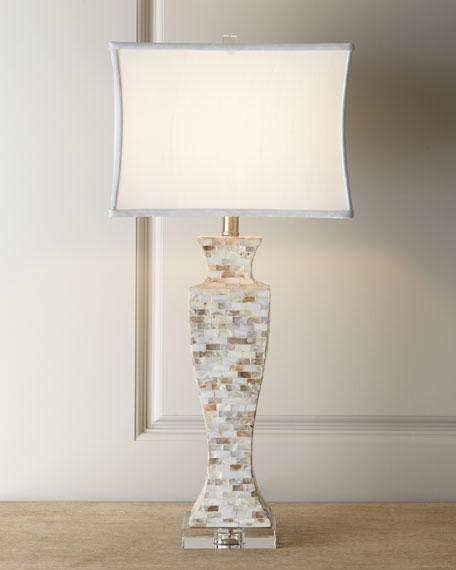 Wonderful Mother Of Pearl Lamp