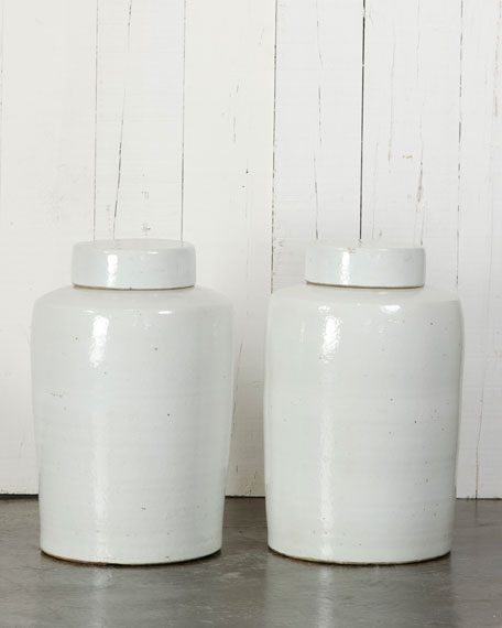 Two Apothecary Pots