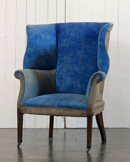 Hepplewhite-Style Wing Chair