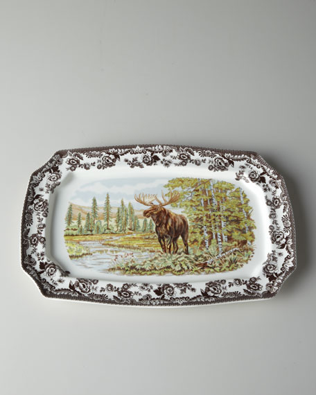 """Moose"" Rectangular Platter"