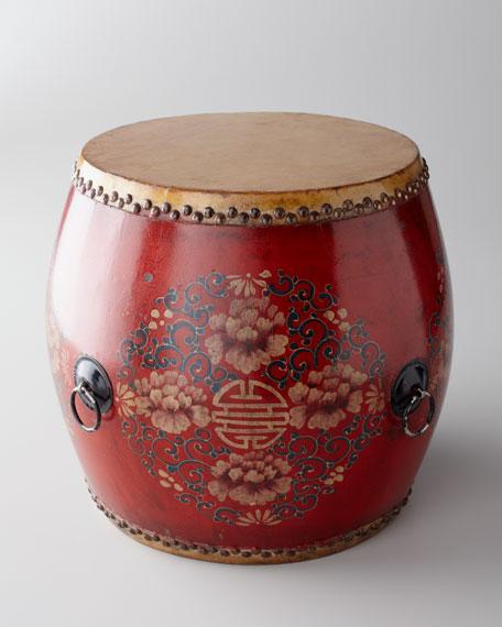 Vintage Drum, Red