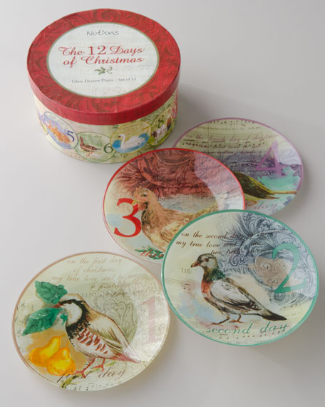 """""""Twelve Days of Christmas"""" Accent Plates"""