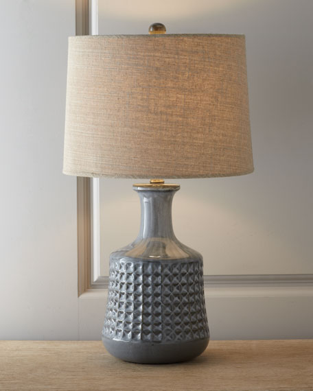 "Gray ""Cooper"" Bottle Table Lamp"