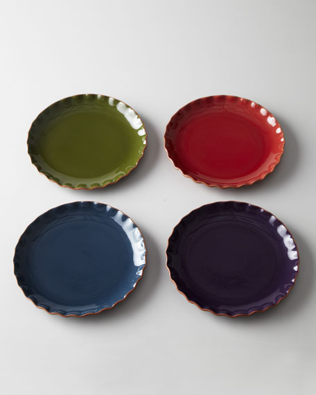 "Four ""Ruffle"" Dinner Plates"