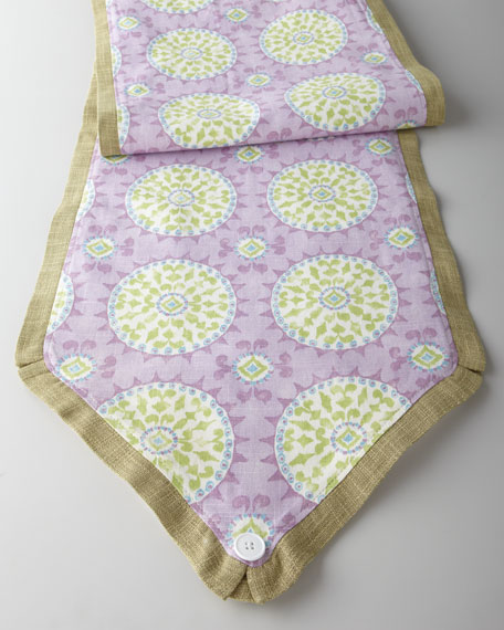 """Pretty Purple"" Mosaic Table Runner"