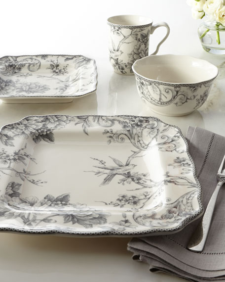 & 16-Piece Adelaide Gray Dinnerware Service
