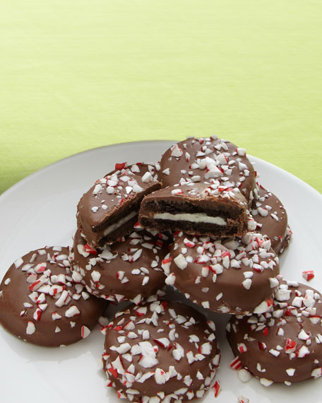 Peppermint & Chocolate-Covered Oreo Cookies