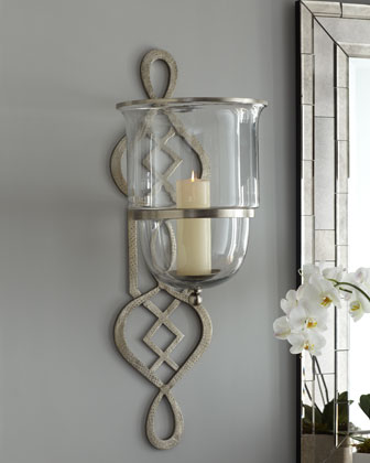 Fretwork Hurricane Sconce