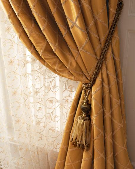 """Each Paramount Grid Curtain, 96""""L"""