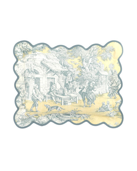 "12"" x 16"" Lutece Cypress Toile Breakfast Pillow"