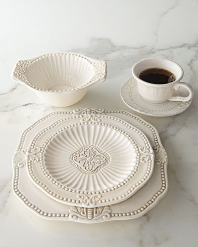 20-Piece Ivory Baroque Dinnerware Service