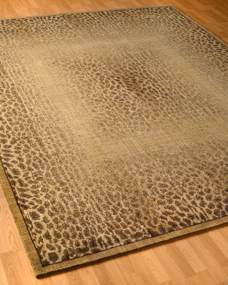 "Leopard Shadow Rug, 5'6"" x 7'5"""