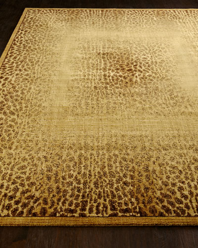Leopard Shadow Rug  5'6 x 7'5