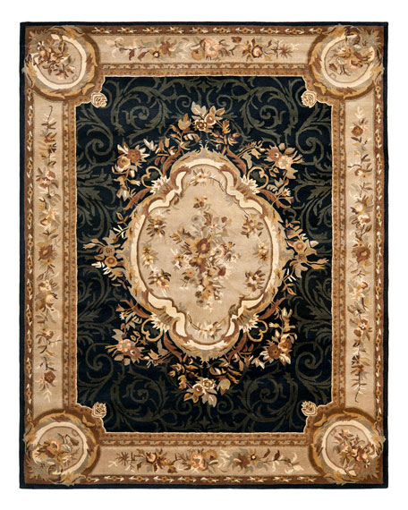 "Aubusson Night Runner, 2'6"" x 12"""