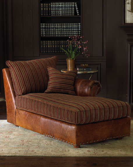 Old Hickory Tannery Striped Sectional Sofa