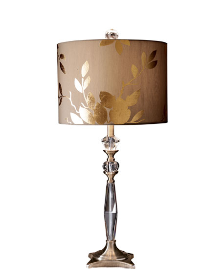 Golden leaf table lamp aloadofball Image collections