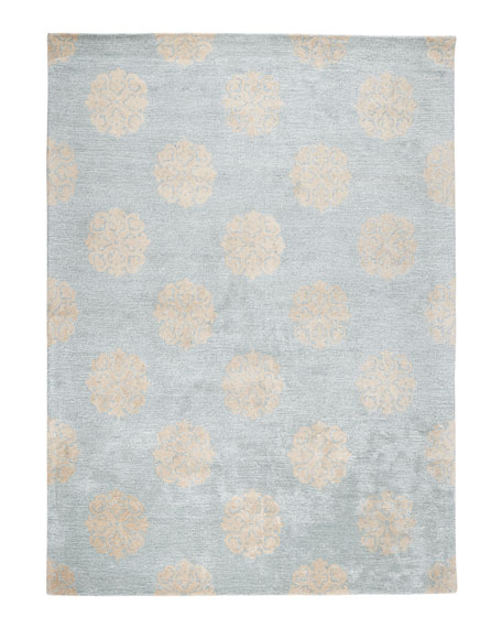 Floating Medallions Rug, 5' x 8'