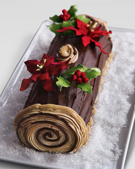 Buche de Noel Cake, For 12-24 People