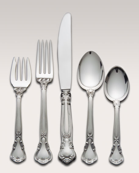 5-Piece Gorham Chantilly Sterling Silver Flatware Place Setting