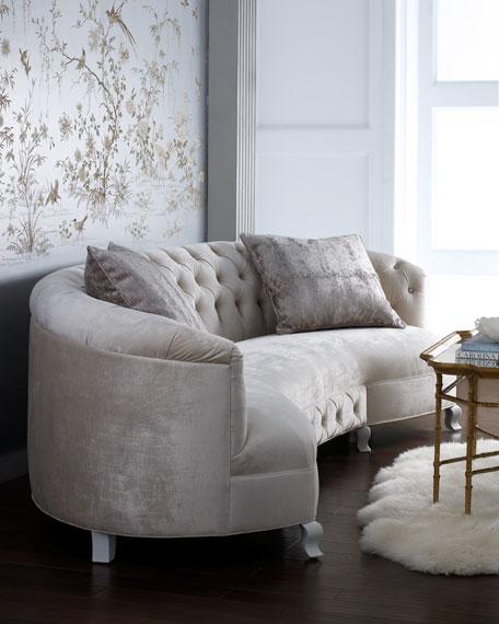 "Monroe Tufted Sofa 114"""