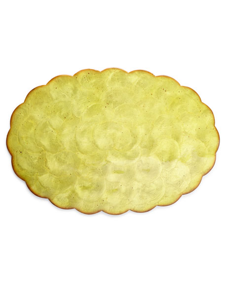 "Four 19"" x 13"" Oval Capiz Shell Placemats"