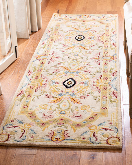 "Feather Medallion Runner, 2'6"" x 8'"
