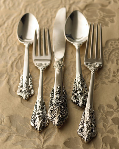 92-Piece 20th-Century Baroque Silver-Plated Flatware