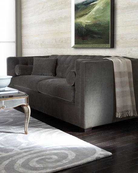 Ordinaire Dusk Button Tufted Sofa