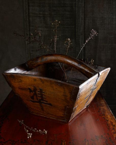Antique Wooden Basket