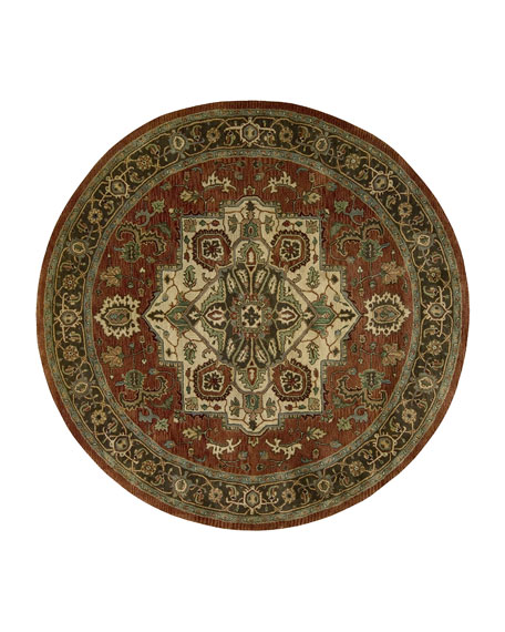 NourCouture Javed Rug, 6' Round
