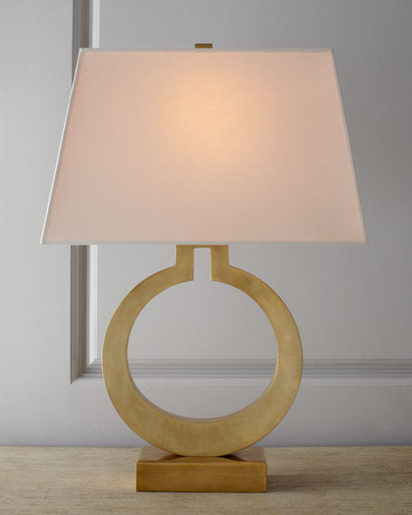 Chapman & Myers Brass Ring Lamp