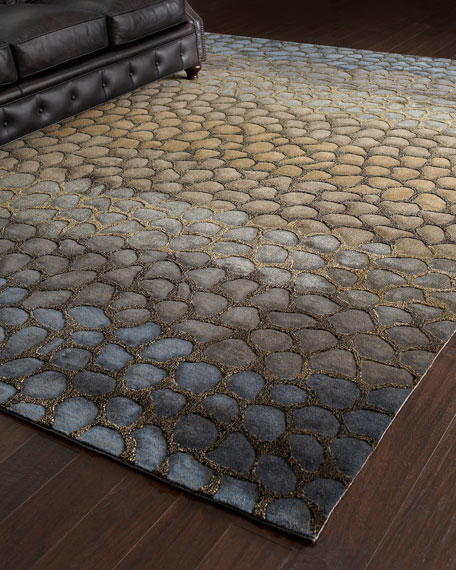 Jaded Pebbles Rug, 5' x 8'