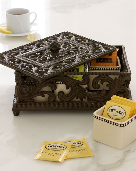 G G Collection Five-Section Divided Tea Box