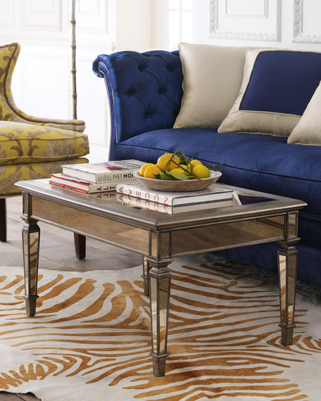 Hailey mirrored coffee table for Stores like horchow