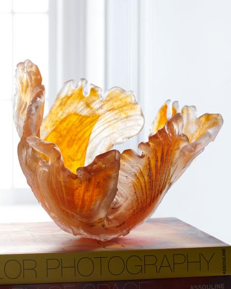 Orange Blaze Glass Bowl