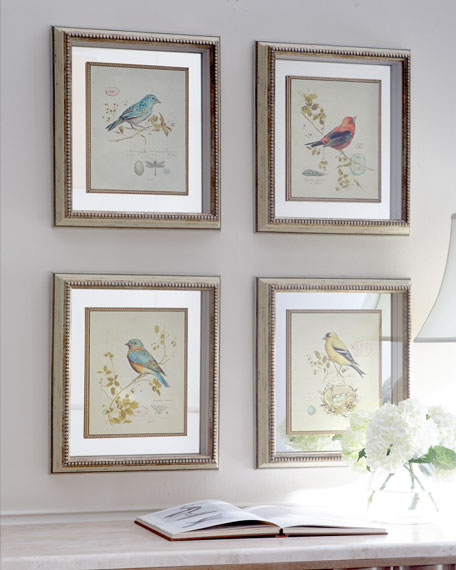 Four Songbird Prints