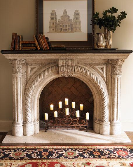 Neiman Marcus Rope-Edge Fireplace Mantel