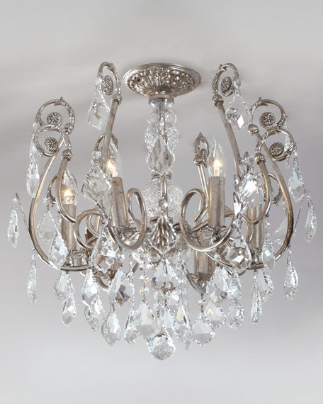 Crystorama Mini Chandelier Flush-Mount Light Fixture